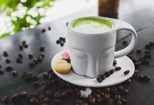 Green Tea Latte in a Cup